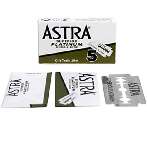 Astra Superior Platinum Double Edge Blades - 5 count