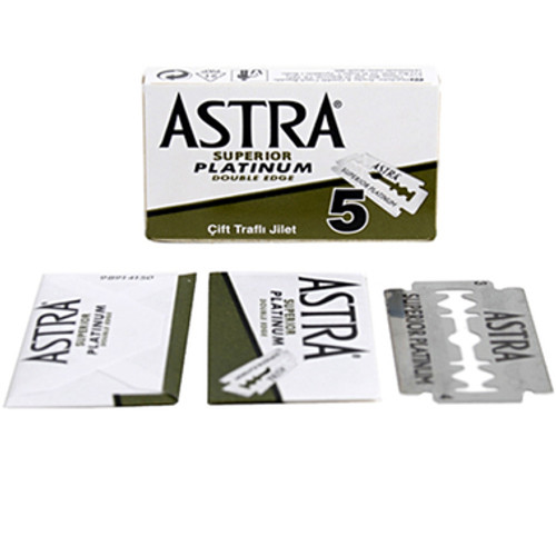 Astra Superior Platinum Double Edge Blades - 5 count