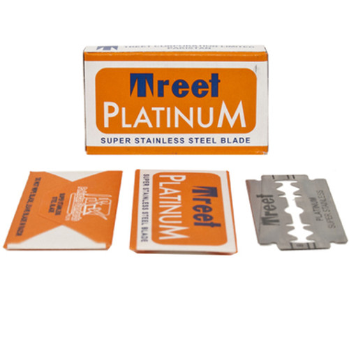 Treet Platinum Super Stainless Double Edge Blades - 10 count