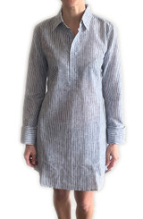 Cotton/linen stripe dress