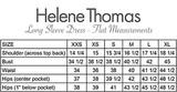 Long sleeve dress - flat measurements