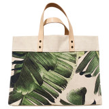 Palm leaf large canvas tote