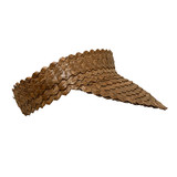 Brown palm leaf visor side view