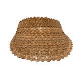 Brown palm leaf visor front