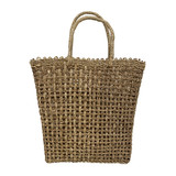 Large open basket weave tote
