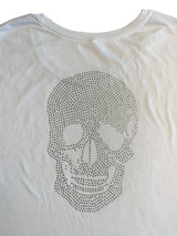 Rhinestone skull back detail