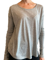 Grey stars long sleeve tee
