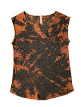 Charcoal grey bleach dyed sleeveless tee