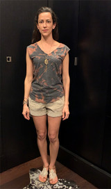 How to style the charcoal bleach dyed sleeveless tee