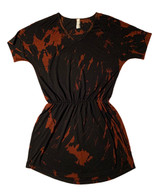 Black bleach dye dress