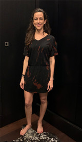 Black bleach dye dress outfit front