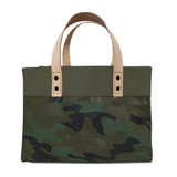 Camo canvas mini tote