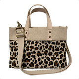 Leopard canvas mini tote