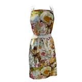 Multi colored floral garden apron front