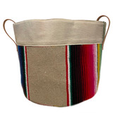 Tan Serape large home and garden storage tote