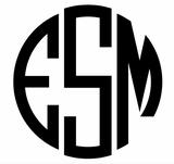 Triple letter circle monogram