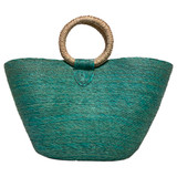 turquoise beach tote