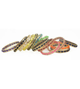 Colorful Woven Leather Bangles