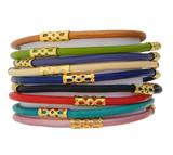 Regina Bouquet Leather Bracelet Set of 9 (Multiple Sizes Available)