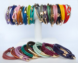 Smooth Double Wrap Leather Bracelet Color Options