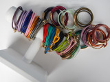 Bree Smooth Leather Double Wrap Bracelets (Sold Individually)