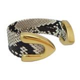 Genuine python cuff bracelet