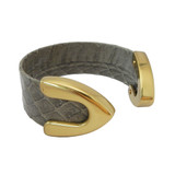Grey snakeskin cuff bracelet