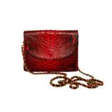 Red python crossbody purse