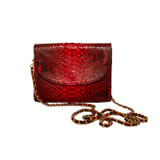 Red python crossbody purse