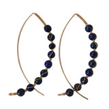 Lapis Arc Earrings