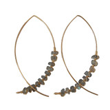 Labradorite Arc Earrings