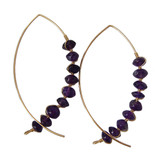 Amethyst Arc Earrings