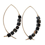 Black Jasper Arc Earrings