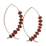 Carnelian Arc Earrings