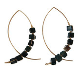Green Jasper Arc Earrings