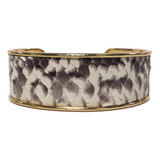 Wide bezel cuff in natural python