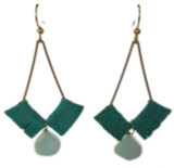 Kendall geometric earrings with turquoise suede natural turquoise