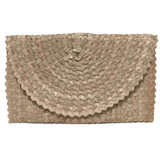 Palm Leaf Fold-over Clutch