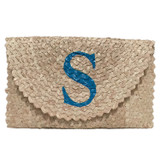 Palm Leaf Fold-over Clutch - Monogram
