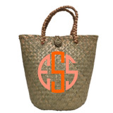 Seagrass Bucket Tote - Monogram