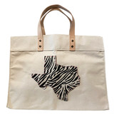 Texas tote - large natural canvas market tote