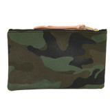 Camo Canvas Large Zip Pouch
