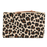 Leopard  Canvas Large Zip Pouch