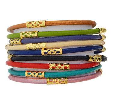 Regina Bouquet Leather Bracelet Set of 9 (Multiple Sizes Available)