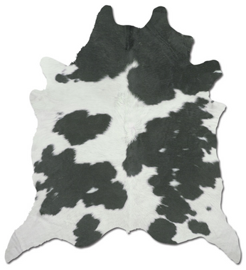 Black & White Cowhide Rug - Monogram Options Available