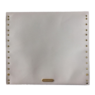 Rawhide leather oversize clutch back