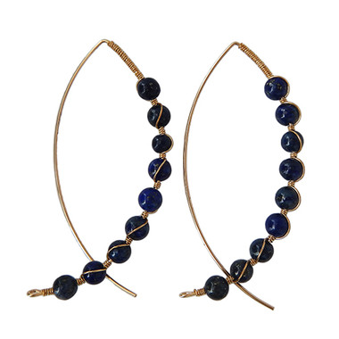 Lapis Arc Earrings