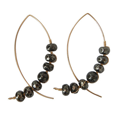 Pyrite Arc Earrings