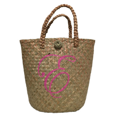 Summer bucket tote with monogram