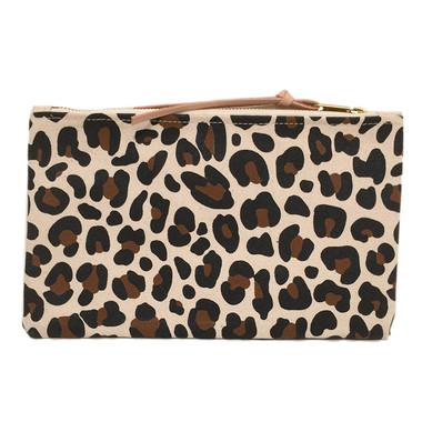 Large Leopard  Canvas Zip Pouch